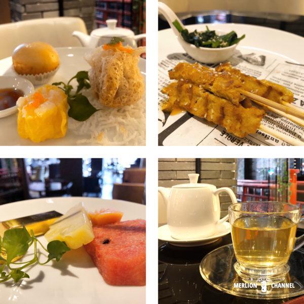 「シャンハイ・マンション・バンコク」1階のラウンジバー「Red Rose」の飲茶ハイティー