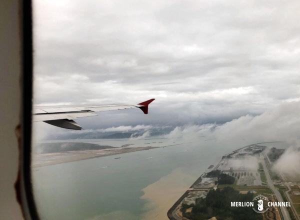 チャンギ空港を離陸