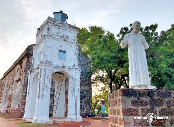 マラッカの丘に建つ「セントポール教会」