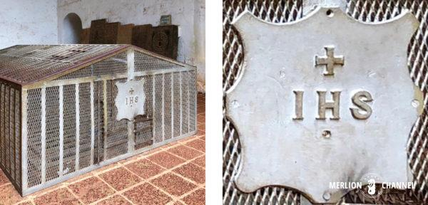 「セントポール教会」ザビエルの遺体が安置されていた場所