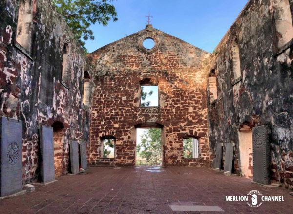 「セントポール教会」の礼拝堂跡