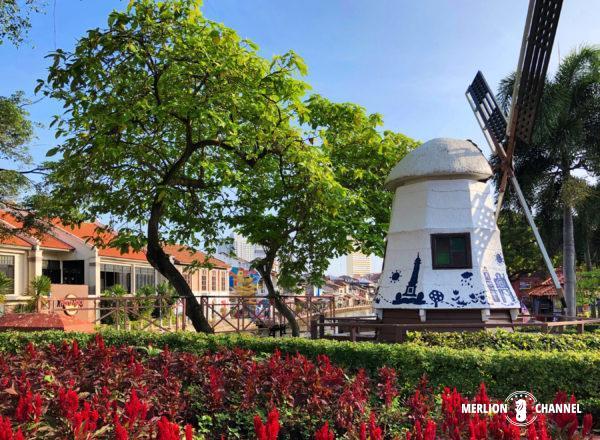 マラッカのオランダ広場にある風車
