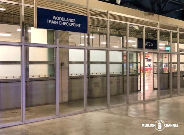 マレー鉄道の南端の終着地、シンガポール側の鉄道チェックポイント「ウッドランズ駅」
