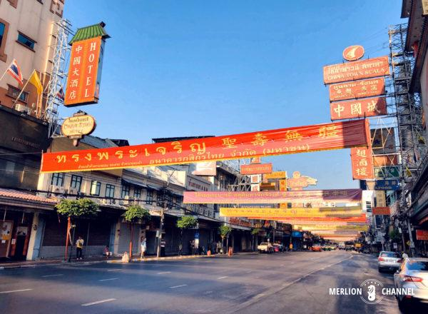 静かな朝のバンコク中華街「ヤワラート」