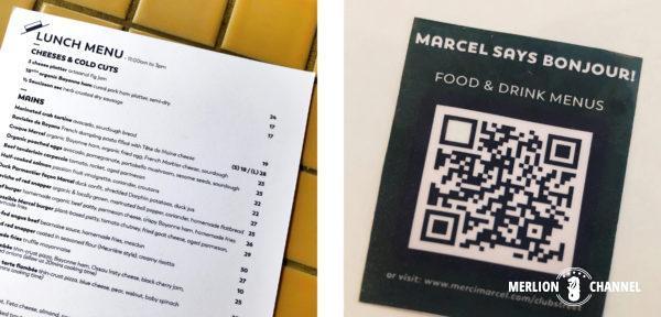 「メルシー・マルセル(Merci Marcel)」のメニュー