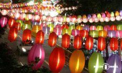 中秋節の灯篭イルミネーション