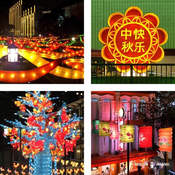 チャイナタウン恒例の「中秋節」ライトアップ