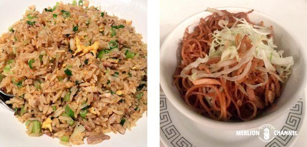ミンジャン北京ダックを使った炒飯と麺