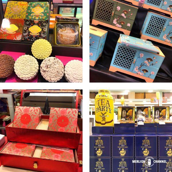 高島屋フェアで売られている豪華なボックス付き月餅