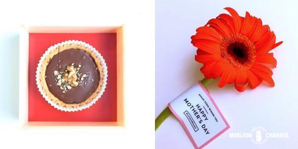 タルトとガーベラの花