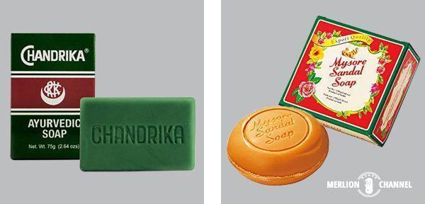 アユルヴェーダ石鹸「マイソールサンダルソープ」と「チャンドリカ」