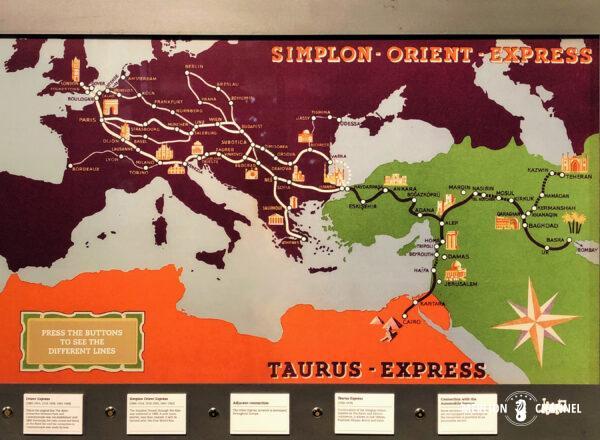 「オリエント急行展」タウラス急行の路線図