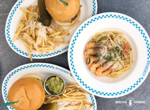 OverEasyのアメリカンな食事