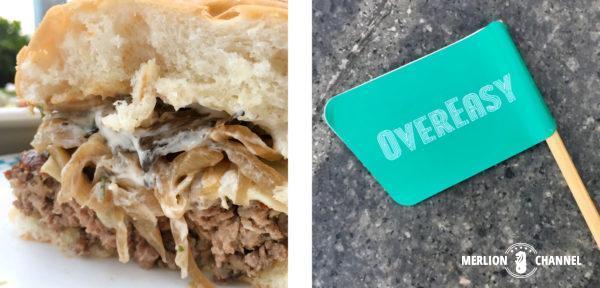 OverEasyのハンバーガー
