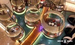 パンパシフィック・シンガポールホテル(Pan Pacific Singapore)の1Fのロビーラウンジ「Atrium」
