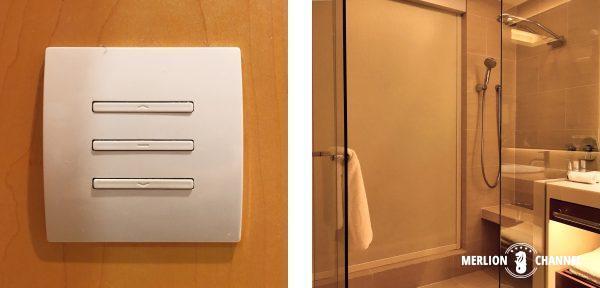 パンパシフィック・シンガポールホテル(Pan Pacific Singapore)のバスルームのブラインド