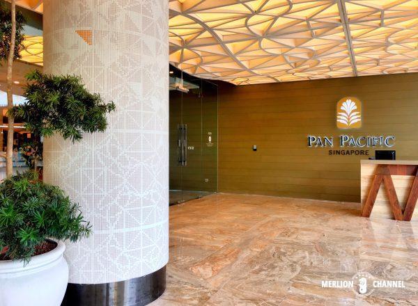 パンパシフィック・シンガポールホテル(Pan Pacific Singapore)の玄関口