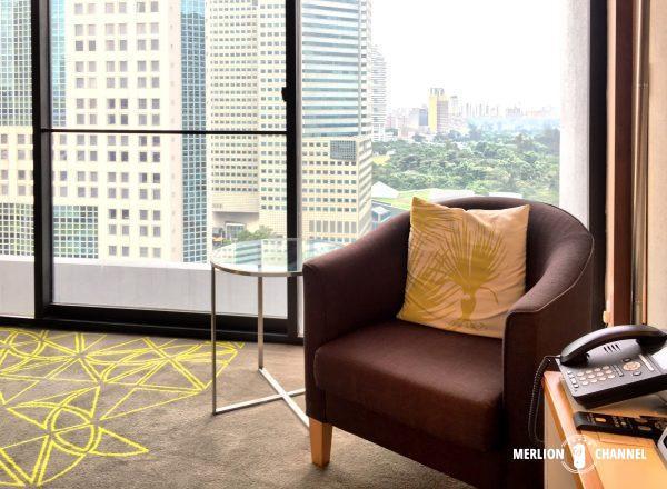 パンパシフィック・シンガポールホテル(Pan Pacific Singapore)のソファ・コーナー