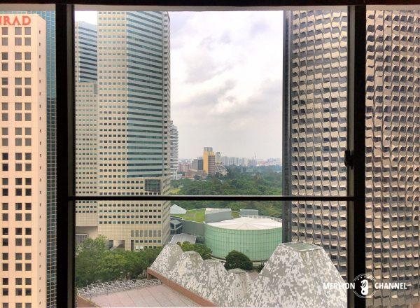 パンパシフィック・シンガポールホテル(Pan Pacific Singapore)の部屋からの景色