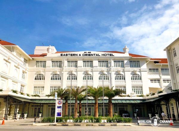 イースタン・アンド・オリエンタルホテルの改装された本館正面