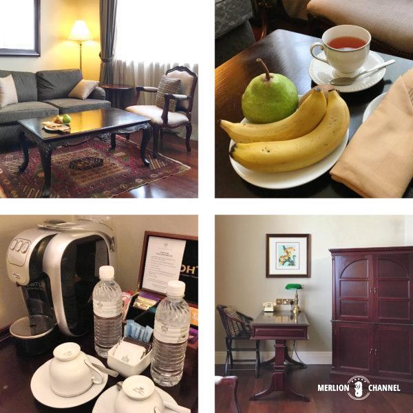 イースタン・アンド・オリエンタルホテルのリビングスペース