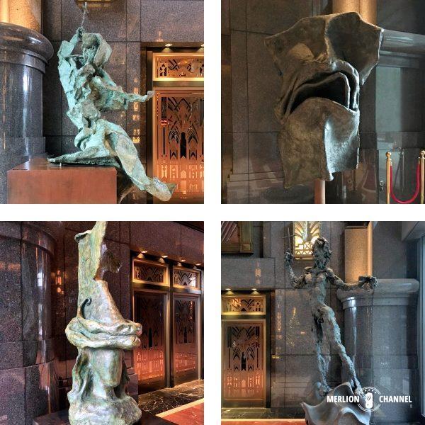 Park View Square内にあるサルバドール・ダリの彫刻4作品