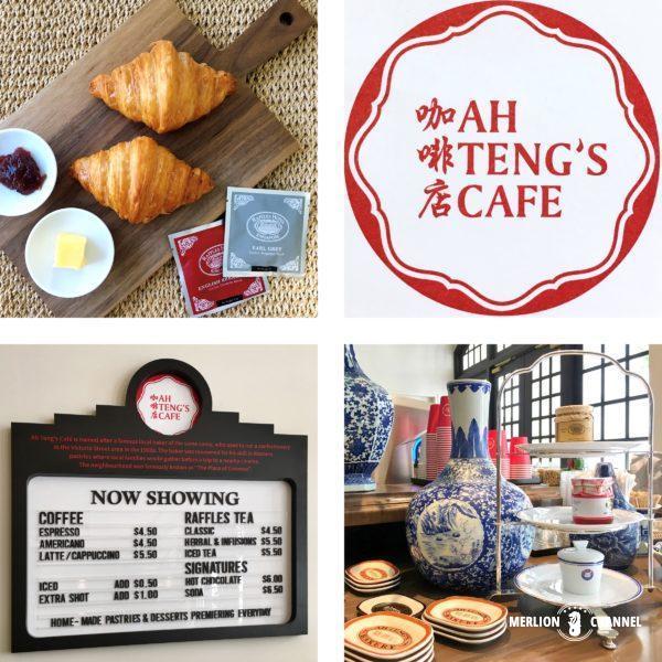 ラッフルズ・ブティック内の「AH TENG'S CAFE」のメニュー