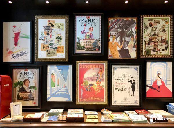 ラッフルズ・ブティックのポスターや絵葉書