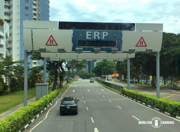 シンガポール市内への交通量を管理するERPシステム