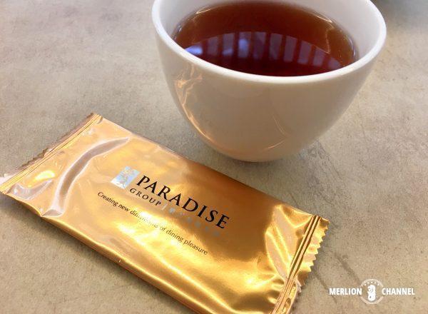 シンガポール有料のティッシュとお茶