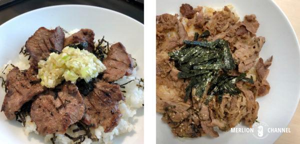 三代目文治の「タン塩丼」&「焼肉丼」