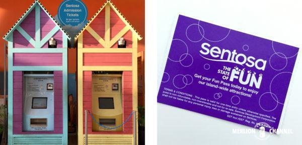 セントーサ・エクスプレスの券売機とチケット