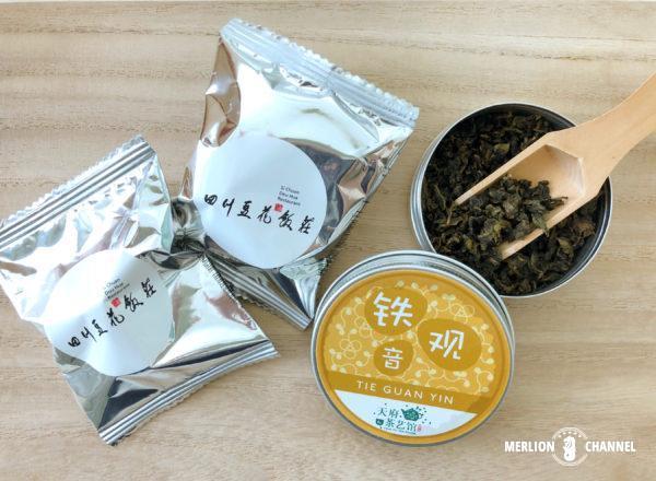「四川豆花飯荘」天府茶芸館の鉄観音茶