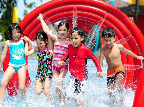 シンガポール動物園の「ウェットプレイエリア」