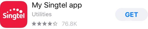 My Singtel Appのアプリのダウンロード