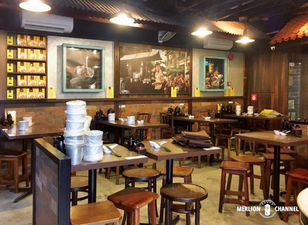 シンガポールの有名店「松發肉骨茶(ソンファバクテー)」のクラークキー本店の店内