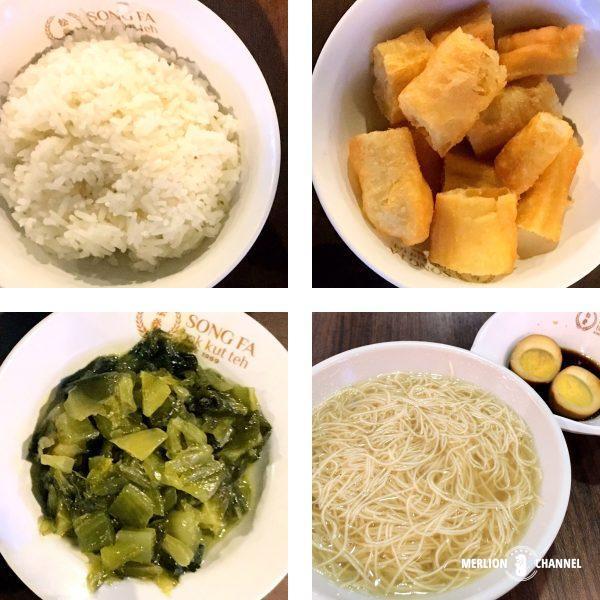 シンガポールの有名店「松發肉骨茶(ソンファバクテー)」のサイドディッシュ