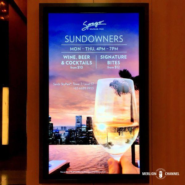 Spagoで夕暮れ時の一杯Sundowners