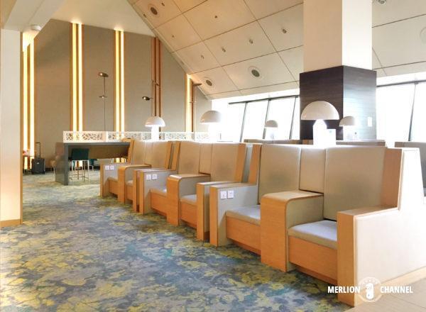 チャンギ空港ターミナル2「アンバサダーラウンジ」の内部