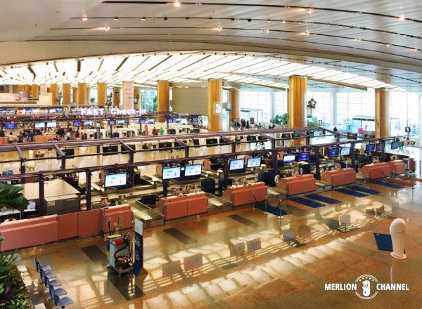 チャンギ空港ターミナル2の出発フロア