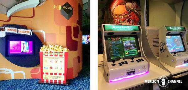チャンギ空港ターミナル2の映画&ゲームコーナー