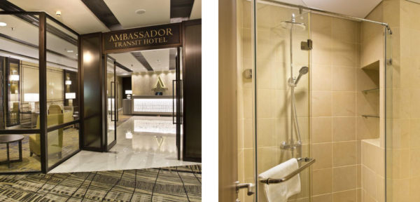 アンバサダー・トランジットホテル ・ターミナル3の外観&シャワー