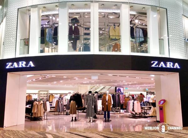 チャンギ空港ターミナル3の制限エリアある「ZARA」