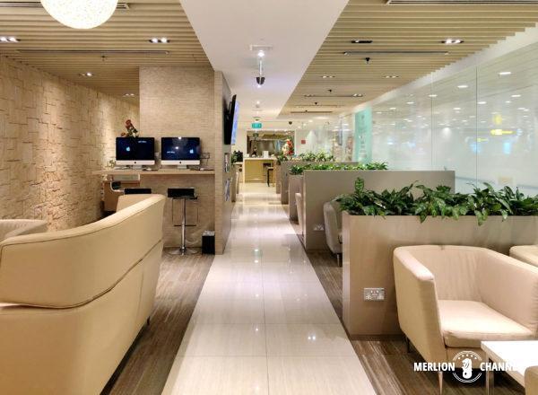チャンギ空港ターミナル3のラウンジ「Haven」の室内