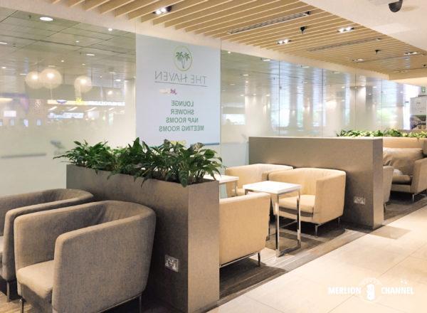 チャンギ空港ターミナル3のラウンジ「Haven」のシーティングエリア
