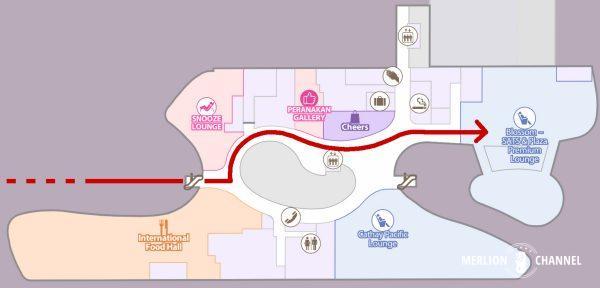 チャンギ空港ターミナル4のフロアマップ