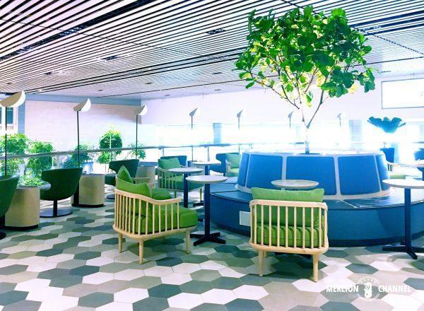 チャンギ空港ターミナル4ブロッサムラウンジのシーティングエリア