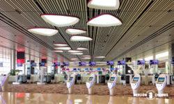 チャンギ空港ターミナル4の2階「出発フロア」