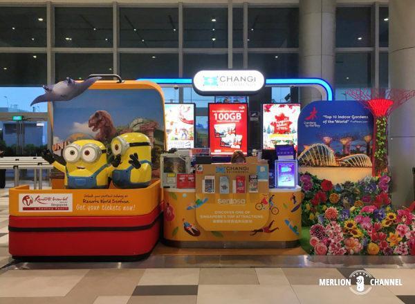 チャンギ空港ターミナル4の1階「到着フロア」にあるSIM売場