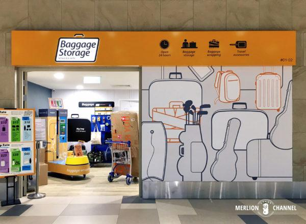 チャンギ空港ターミナル4の1階「到着フロア」にある荷物預かり所